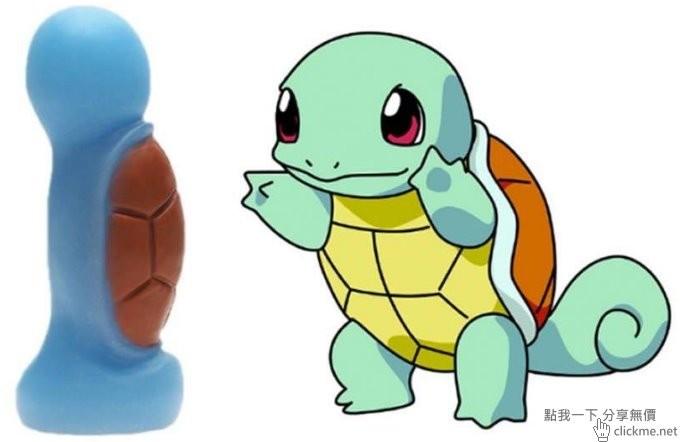寶可夢角色造型按摩棒,傑尼龜的棒棒好粗一根呀…