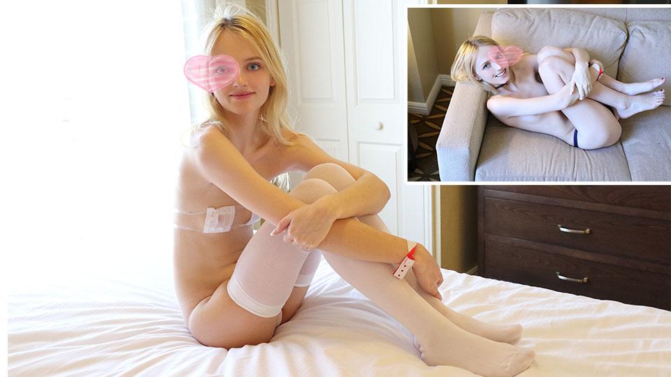 【素人】滿滿背德感!金髮蘿莉陪你鴛鴦浴「粉紅鮑灌漿」完全合法!