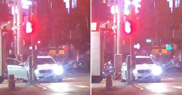 【影片】台中活春宮《BMW男當街頂撞酒店妹》老婆氣噗噗陪到案!