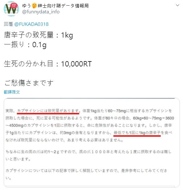 AV女優《深田詠美》七味粉挑戰「轉推多少加多少」結果數字破6萬讓她加爆!