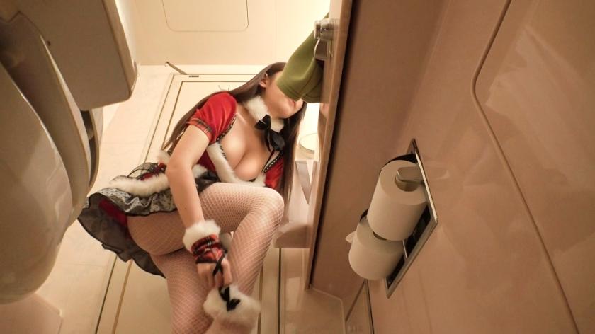 【素人】搭訕E奶聖誕美少女,網襪撕開「蜜洞溼答答」交換體液當禮物!