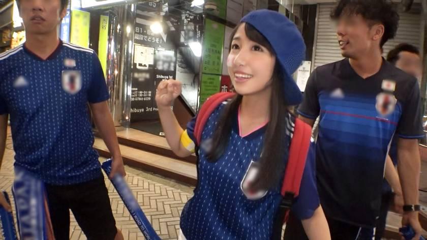 【素人】搭訕一日球迷女大生,藍武士射門成功Goal!
