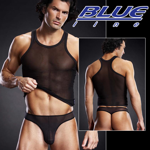 美國Blue Line-騎士透氣款挖背背心-經典黑 S/M BLM018