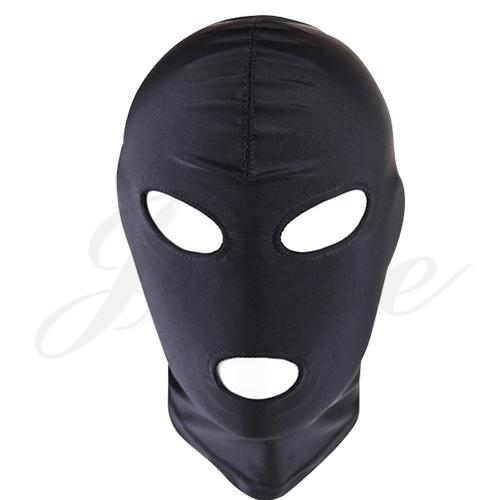 情境SM 露眼露嘴透氣彈性面罩頭套