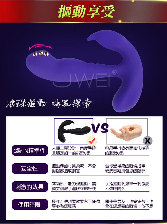 APHRODISIA.后庭快感 10x5變頻摳動雙頭可用前列腺按摩器-紫色