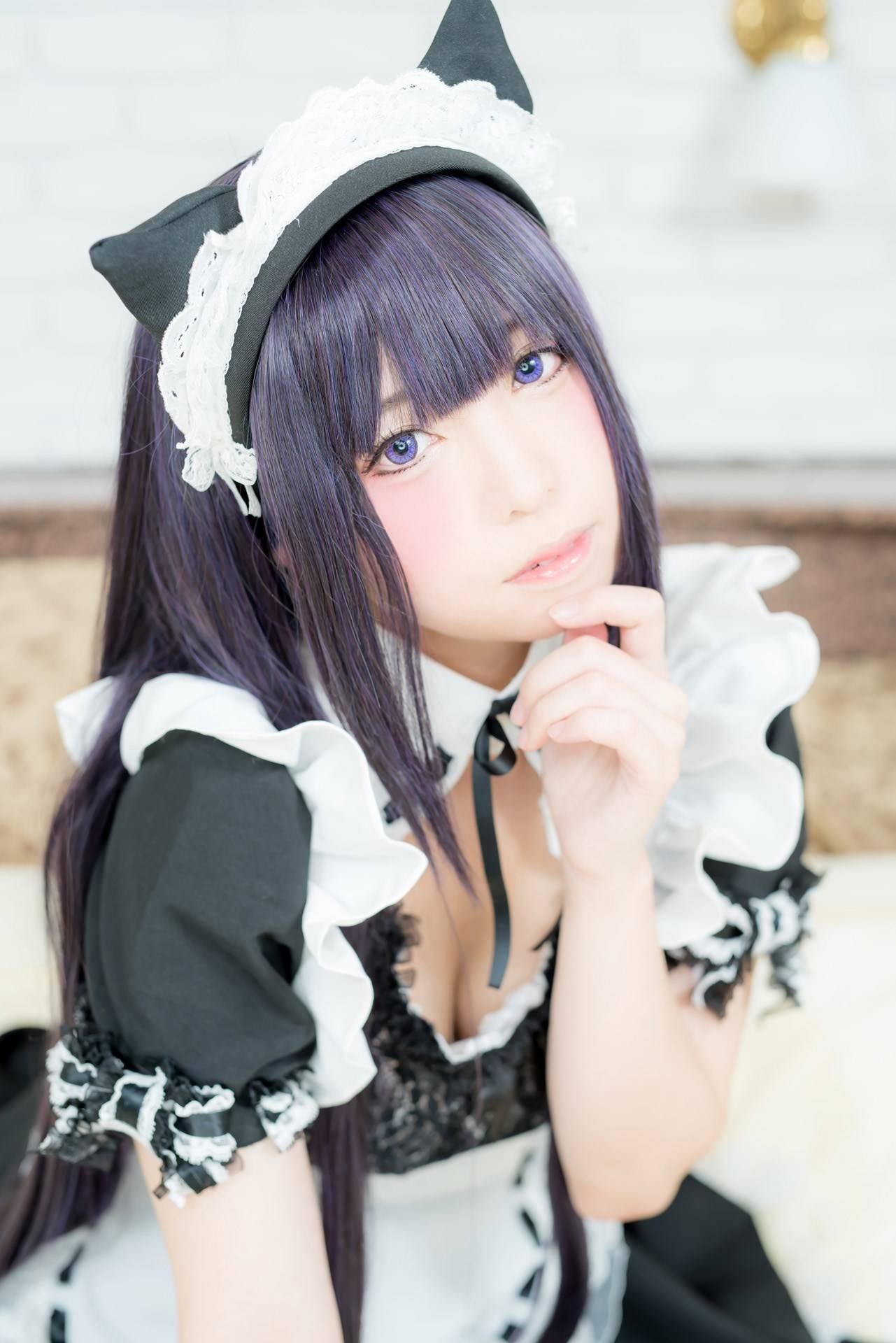 [COS]誘惑美女扮演貓耳女仆,貓耳與女仆服的正確用法