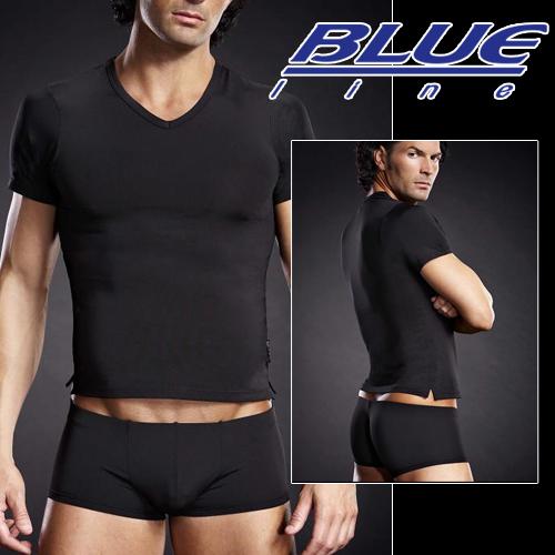美國Blue Line-競技男孩V領T袖-經典黑 L/XL BLM007-適合亞洲男性尺寸