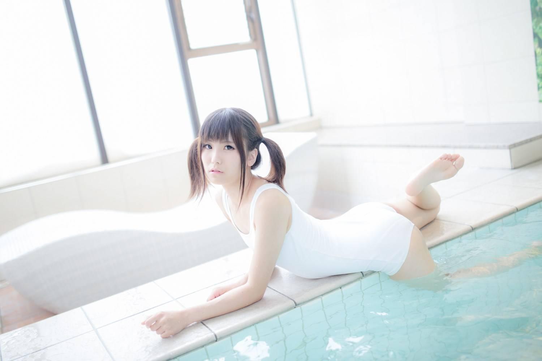 [套圖]清純蘿莉泳裝 白色死庫水