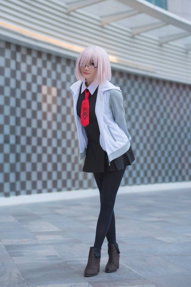 [COS]黑絲美腿好棒 Fate/Grand Order 瑪修·基列萊特 Cosplay